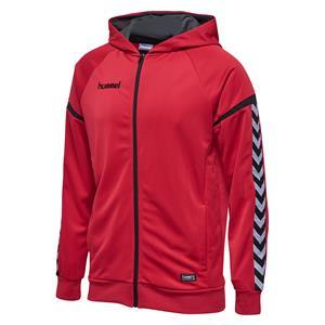 Auth. charge zip hoodie true red-107547